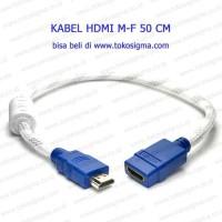 Terbaik KABEL PERPANJANGAN / EXTENSION HDMI M-F 50cm Terlaris