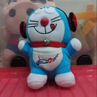 boneka doraemon headset 21cm