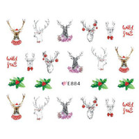 Christmas Ultra Thin Nail Sticker Stiker Kuku E884
