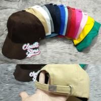 Terbagus Topi Baseball Premium Polos Pengait Gesper / Tumblr Cap Grade