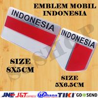 Emblem Logo Indonesia Alumunium Stiker Mobil HONDA DAIHATSU TOYOTA dll
