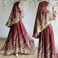 Busana Muslim Wanita Maxi Dress Risana Setelan Gamis Syari Terbaru