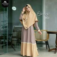 Busana Muslim Wanita Long Dress Elmira Setelan Gamis Syari Terbaru