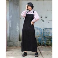 Playsuit Long Cute ( Overall Dress Versi Panjang )