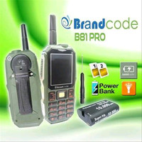Brandcode B81 orange , HP Powerbank Model Outdoor,Radio,Dual SIM