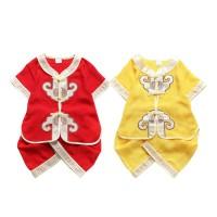 DISKON Chinese New Year Tang Suit Baby Boy Cheongsam 2pcs/set