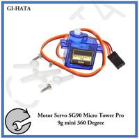 Motor Servo SG90 Micro Tower Pro 9g mini 360 Degree