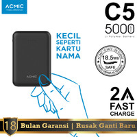 ACMIC C5 5000mAh Mini Power Bank (2A Fast Charge Input & Output)