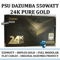 PSU DAZUMBA 24K Pure Gold 550 Watt 80+ Gold Full Modular - Original