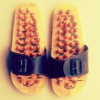 Refleksi Sandal Terapi Kayu, Sandal Terapi Alas Kaki Kayu, Sendal