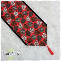 TABLE RUNNER Batik | Taplak Meja Tamu 150x40 cm | Gemitir Orange