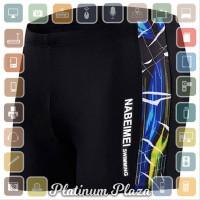 Celana Renang Pria Swimming Trunk Pants Size L - Black/Blue aneka spor