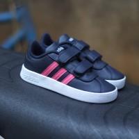 Sepatu Anak original adidas neo VL court blue sparkle