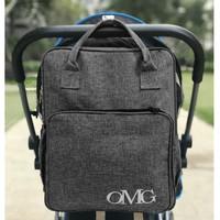 Tas Perlengkapan Bayi Diaper Bag Backpack Travel Susu Waterproof OMG