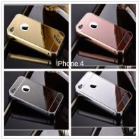 case bumper slide mirror iPhone 4 4G 4S hardcase hard case metal