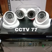 PAKET MURAH 4 CAMERA CCTV HISOMU 3 MP 1080P 2 IN 2 OUT HARDISK 1 TB