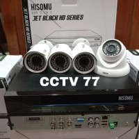 PAKET MURAH 4 CAMERA CCTV HISOMU 3 MP 1080P 3 OUT 1 IN HARDISK 500 GB