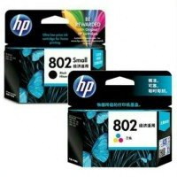 tinta printer hp 802 1set black & colour original 100%