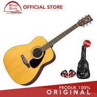 Yamaha Gitar F310 / F 310 / F-310 - Natural + Softcase & 2 Pick