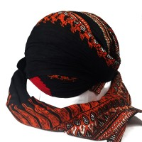 Blangkon Jogja Lipat Motif Modang Sliwir - Pakaian/Busana Adat Jawa