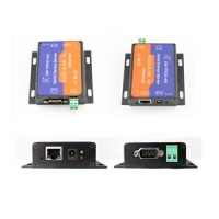 Dual Serial RS232 RS485 to Ethernet TCP - IP RJ45 Converter AB61