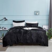 Set Bed Cover Simulasi Bahan Sutra Ukuran King / Queen / Twin toho