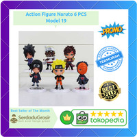 Action Figure Naruto 6 PCS - Model 19 Full Set