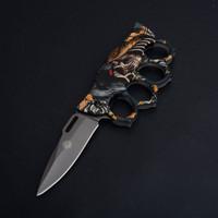 PISAU LIPAT KNUCKLE KNIFE CK X71 P1141-1 FOLDING KNIFE OUTDOOR