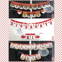 Banner Flag / Bunting Flag HUT RI / DIRGAHAYU RI Motif Garuda