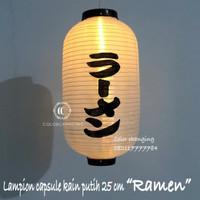 Lampion capsule RAMEN putih dekorasi restoran jepang