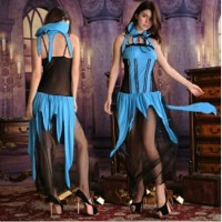 L-1431 - Lingerie Blue Magician Cosplay Costume