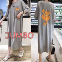 Damai fashion jakarta - long dress JUMBO wanita STAY REAL - konveksi
