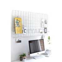 Mesh Wire / Papan Notes 35x52cm - FREE WOODEN CLIP & KLEM KABEL