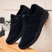 Sepatu Sneakers Running Breathable + Include Box - Hitam, 41