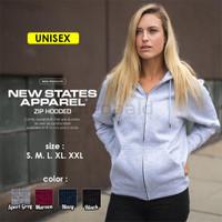 Zipper Hoodie Polos 9600 New States Apparel ( NSA ) Import Original