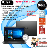 DELL Vostro 3481 (14 Inch) Intel Core i3-7020U/4GB/1TB/DOS/1YR