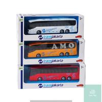 DIE CAST MOBIL BUS TRANSJAKARTA 8070-30 MAINAN BUSWAY ANAK