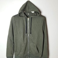 Jaket Full zipper hoodie by H&M Olive (cut label) Original