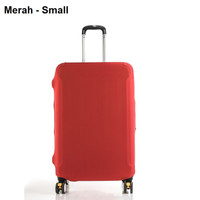 Sarung Koper / Cover Koper Travel (Dustproof dan Elastis) Warna Merah - Medium