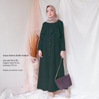 ELLIPSES.INC Gamis Muslim Terbaru 2019/Gamis Button Ruffle Fadhila