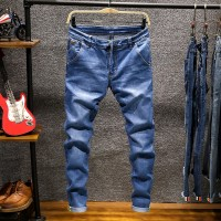 Skinny Jeans Pria Serut Slim Fit Denim Jogger Stretch Pria JEAN