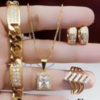 Xuping set perhiasan lapis emas 24k 1705