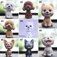Pajangan Dashboard Mobil Anak Anjing Lucu / Bobble Head Cute Puppy Dog - 5