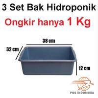 Paket 3 Bak Hidroponik Bak Pasir Kucing
