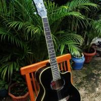 Gitar Yamaha APX 500 Akustik Black (Full Set) -JADE-