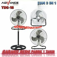 Kipas angin Advance 18 inch 3 in 1 Tornado Stand Wall Desk Fan