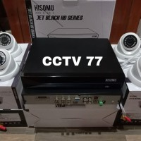 PAKET MURAH 4 CAMERA CCTV HISOMU 3 MP 1080P FULL HD LENGKAP HDD 500GB