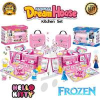 Mainan Anak Rumah Rumahan Bentuk Tas Karakter Hello Kitty Atau Frozen