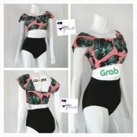 Baju Renang Wanita Dewasa Bikini Swimsuit Swimwear High Waist Cewe