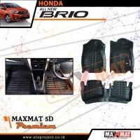 Karpet mobil maxmat 5d tipe Premium black All New Brio 2018-2019